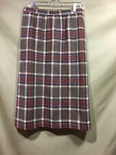 Prestige Of Boston Wool Long Skirt Gray Red Green Plaid Modest VTG