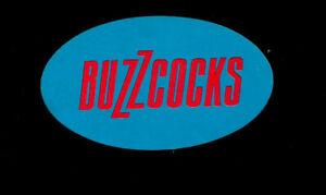BUZZCOCKS. Orig 1978 sticker. Punk. M-.