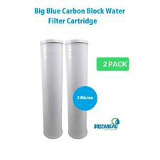 "Two Big Blue 20"" x 4.5"" CTO Carbon Block Filter (5 micron)"