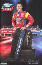 2012 Carl Edwards Frosted Flakes Cheez-It Ford Fusion NASCAR postcard