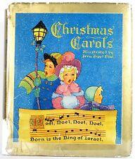 VINTAGE CHILDREN'S BOOK CHRISTMAS CAROLS ILLUSTRATED FERN BISEL PEAT HC w/JACKET