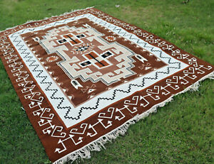 Navajo Kilim Hand Woven Tribal 9x12 ft Turkish Oriental Large Area Rug Southwest