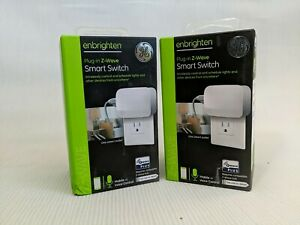 TWO GE Plug Z-Wave Plus Plug-In Smart Switch - ZW4103 - Mobile/Voice Control new