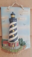 Cape Hatteras Lighthouse 2000 Vintage Look 3 Dimensional Wall Plaque Nautical