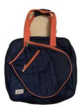 Ame & Lulu Tennis Bag Blue with Orange