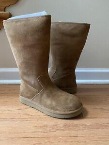 Genuine Women's UGG Australia Alber Tall Boots, Size 7, Chestnut, NEW