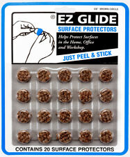 "6 Cards of EZ Glide 5/8"" Brown Circle Felt Surface Protectors (Total 120 Pieces)"