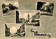 AK Schönebeck 1962 Nicolaistraße Marktplatz Salzer Str. / Magdeburg Zerbst Calbe