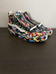 Rare -VANS x Kenzo Paris OG Sk8-Hi LX Floral Green Sneakers VN0A4BVB02H Men's 7
