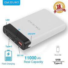DAZUKI 11000mAh QC 3.0 Quick Charger USB-C Power Bank External Portable Battery