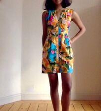 Nanette Lepore Diseñador Arco Iris Multicolor Colorido Vestido Talla 2 (Talla 10)