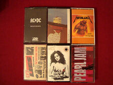 METALLICA AC/DC GUNS N ROSES PEARL JAM RED HOT CHILI PEPPERS LOT OF 6 CASSETTES