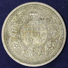 1944 B One Rupee Silver Coin. KM #557.1
