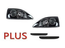 94-98 FORD MUSTANG BLACK HOUSING PROJECTOR HEADLIGHTS + REAR SMOKE REFLECTORS