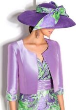 CABOTINE DONNA- Formal wear- 2 piece- Dress and jacket-lilac and lime size 10