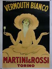 VERMOUTH BIANCO MARTINI & ROSSI TORINO illust. DUDOVICH manif. TELATO originale