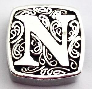 Authentic Lori Bonn Bons 925 Silver N Is for Naughty Slide Charm 29920xn, New