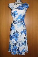 Jacques Vert UK 10 Burnout Floral Print Fit & Flare Race Cocktail Party Dress 38