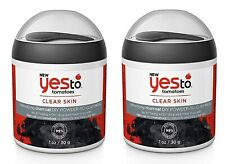 2 x Yes To Tomatoes Charcoal Face Mask Clear Skin Powder to Clay Mud Detoxifying