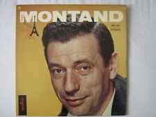 YVES MONTAND 33 TOURS USA HIS SONGS OF PARIS LEO FERRE