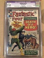 Fantastic Four 32 CGC 7.0 Restored Book Death of a Hero