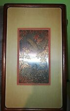 ZHANG SHOU-CHENG GENUINE 24KT GOLD,SILVER & COPPER  QUAIL ETCHING COA