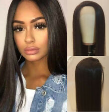 AU STOCK Heat Resistant Lace Front Wig Synthetic Hair Long Silky Straight Brown