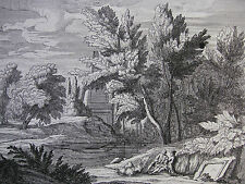 Boudewijns 'paesaggio con piramide, Landscape with Pyramid' acquaforte, ~ 1690