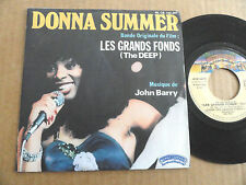 "DISQUE 45T BANDE ORIGINALE DU FILM  "" LES GRANDS FONDS "" DONNA SUMMER"