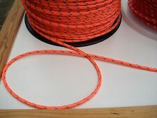5m X 4mm Orange Double Braid With Dyneema Core Yacht & Marine Rope Tens 800kg
