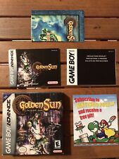 Golden Sun The Lost Age Gba NO GAME Only Box, Booklet And Map 100x100 Original