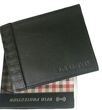 Ben Sherman Wallet RFID Protection Leather Black Longford Collection 16395 New