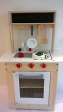Wooden Toy  Country Kitchen Unit with Pot, Pan, Utensils and Accessories