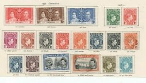 A very nice Nigerian George VI page with values to 5/-