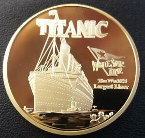 TITANIC White Star Line The Worlds Largest Liner Commemorative Coin FREE COIN ST