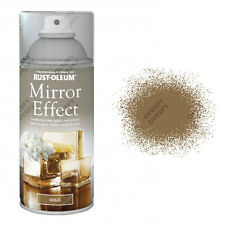 x2 Rust-Oleum Mirror Effect Spray Paint Gold Gloss Finish Art And Craft 150ml