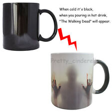 The Walking Dead Zombies Heat Sensitive Ceramic Coffee Mug Hot Chocolate Cup gif