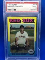 1975 Topps #559 Bob Montgomery PSA 9 MINT Red Sox