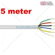 6 Core Alarm Cable 5m. meter White. Top Quality CQR British Made. Free UK