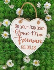Christening Gift Plaque, Personalised Baptism Gift, New Baby, Naming Ceremony