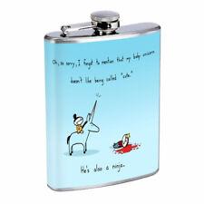 Ninja Unicorn Em1 Flask 8oz Stainless Steel Hip Drinking Whiskey