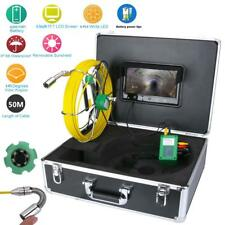 """50M Pipe Inspection Video Camera Waterproof 9""""LCD Drain Pipe Sewer Inspection"""