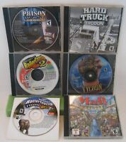 PC Game Tycoon Lot of 6 Games - Tycoon Gamer's Dream Lot!