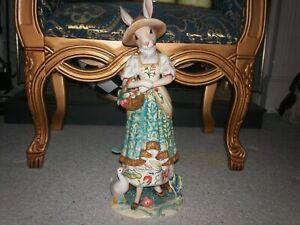 New Fritz & Floyd Dapper Rabbit/Large Rabbit/ Female Figurine Easter Bunny