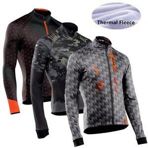 winter Cycling Jersey Long Sleeve Thermal Fleece Bicycle Wear Bike Cycling