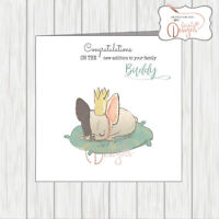 Personalised Card Congratulations On Your New Pet Dog Welcome To Family - Male