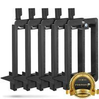5x Single 1 Gang Low Voltage Easy Install Flush Mount Mounting Bracket Black