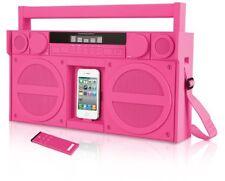 iHome iP4 Portable FM Stereo Ghettoblaster / Boombox für iPhone und iPod, Pink