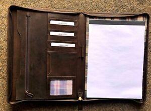 ERWEY A4 Schreibmappe Konferenzmappe A4 mit Reissverschluss Multifunktions Ledermappe Dokumentenmappe aus Kunstleder Typ 1