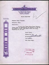 Knoxville TN Kimballs Uewelers Co Diamond Merchants  1940 Vintage Letter Head